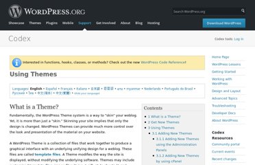http://codex.wordpress.org/Using_Themes