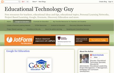 http://educationaltechnologyguy.blogspot.com/p/google-for-educators_22.html
