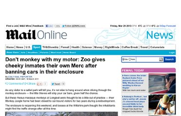 http://www.dailymail.co.uk/news/article-1367129/Zoo-gives-monkeys-Mercedes-play-forced-ban-vehicles-enclosure.html
