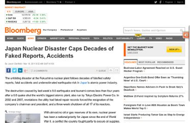 http://www.bloomberg.com/news/2011-03-17/japan-s-nuclear-disaster-caps-decades-of-faked-safety-reports-accidents.html