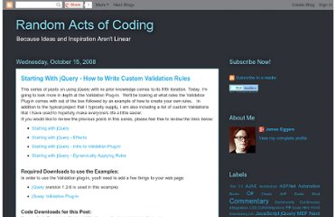 http://randomactsofcoding.blogspot.com/2008/10/starting-with-jquery-how-to-write.html