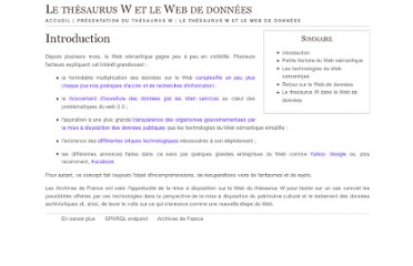 http://www.archivesdefrance.culture.gouv.fr/thesaurus/web-de-donnees.html