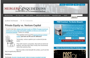 http://www.mergersandinquisitions.com/private-equity-vs-venture-capital/