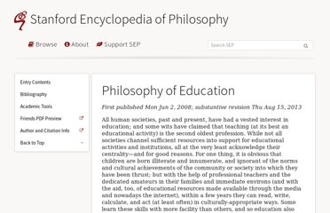 http://plato.stanford.edu/entries/education-philosophy/