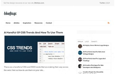 http://bluefaqs.com/2010/04/a-handful-of-css-trends-and-how-to-use-them/