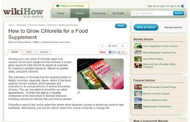 http://www.wikihow.com/Grow-Chlorella-for-a-Food-Supplement