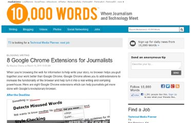 http://www.mediabistro.com/10000words/eight-google-chrome-extensions-for-journalists_b2909