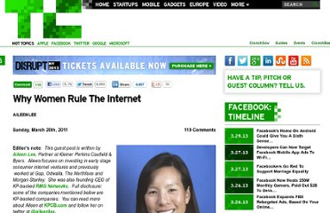 http://techcrunch.com/2011/03/20/why-women-rule-the-internet/