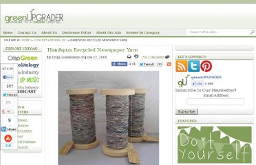 http://greenupgrader.com/2138/handspun-recycled-newspaper-yarn/