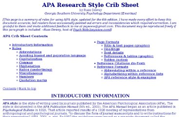 http://www.psychwww.com/resource/APA%20Research%20Style%20Crib%20Sheet.htm