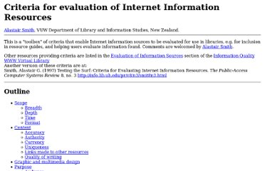 http://www2.vuw.ac.nz/staff/alastair_smith/evaln/index.htm