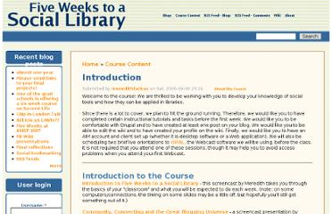 http://www.sociallibraries.com/course/intro