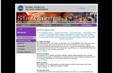 http://stargazers.gsfc.nasa.gov/resources/activities.htm