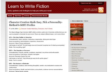 http://www.learntowritefiction.com/character-creation-made-easy-pick-a-personality-mbti-profiles/
