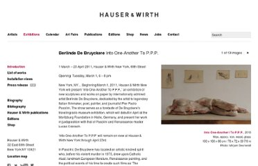 http://www.hauserwirth.com/exhibitions/899/berlinde-de-bruyckere-into-one-another-to-p-p-p/view/