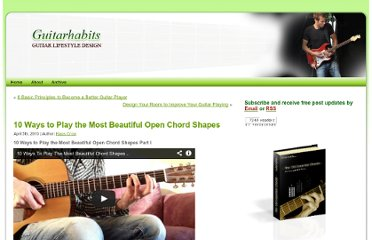 http://www.guitarhabits.com/10-ways-to-play-the-most-beautiful-open-chord-shapes/
