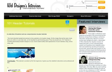 http://www.designinterviews.com/news/101-Header-Tutorials-58780.html