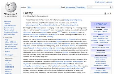 http://en.wikipedia.org/wiki/Poetry