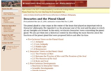 http://plato.stanford.edu/entries/pineal-gland/