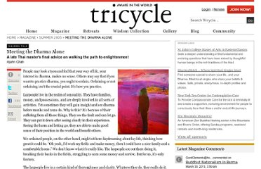 http://www.tricycle.com/dharma-talk/meeting-dharma-alone