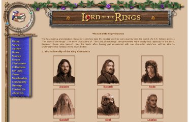 http://www.lord-of-the-rings.org/books/lotr_characters.html