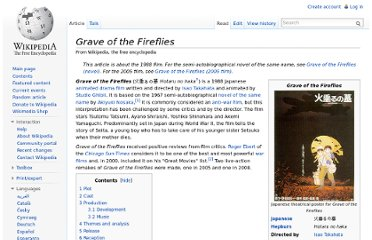 http://en.wikipedia.org/wiki/Grave_of_the_Fireflies