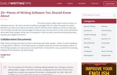 http://www.dailywritingtips.com/writing-software/