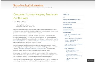 http://experiencinginformation.wordpress.com/2010/05/10/customer-journey-mapping-resources-on-the-web/