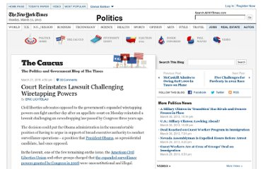 http://thecaucus.blogs.nytimes.com/2011/03/21/court-reinstates-lawsuit-challenging-wiretapping-powers/
