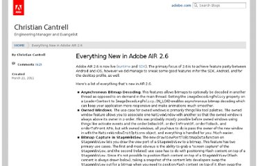 http://blogs.adobe.com/cantrell/archives/2011/03/everything-new-in-adobe-air-2-6.html