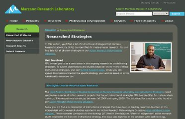 http://www.marzanoresearch.com/research/researched_strategies.aspx