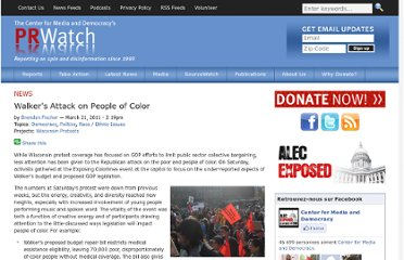 http://www.prwatch.org/news/2011/03/10374/walkers-attack-people-color