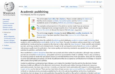 http://en.wikipedia.org/wiki/Academic_publishing