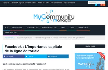 http://www.mycommunitymanager.fr/facebook-limportance-capitale-de-la-ligne-editoriale/