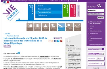 http://www.vie-publique.fr/actualite/panorama/texte-vote/loi-constitutionnelle-du-23-juillet-2008-modernisation-institutions-veme-republique.html