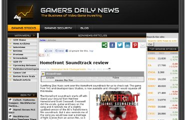 http://www.gamersdailynews.com/article-2802-Homefront-Soundtrack-review.html