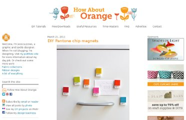 http://howaboutorange.blogspot.com/2011/03/diy-pantone-chip-magnets.html