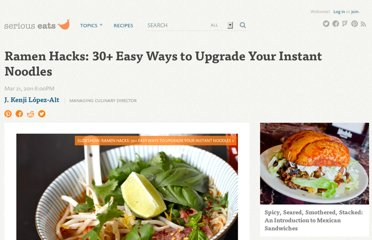 http://www.seriouseats.com/2011/03/ramen-hacks-30-easy-ways-to-upgrade-your-instant-noodles-japanese-what-to-do-with-ramen.html