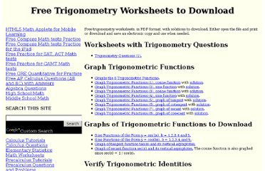 http://www.analyzemath.com/trigonometry_worksheets.html