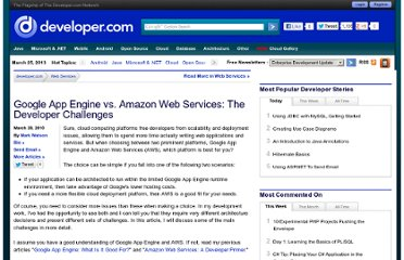 http://www.developer.com/services/article.php/3873286/Google-App-Engine-vs-Amazon-Web-Services-The-Developer-Challenges.htm