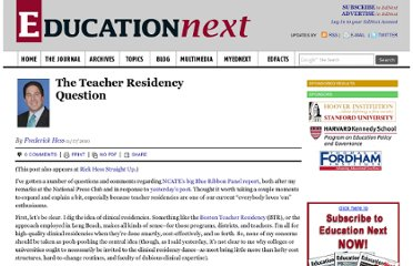 http://educationnext.org/the-teacher-residency-question/