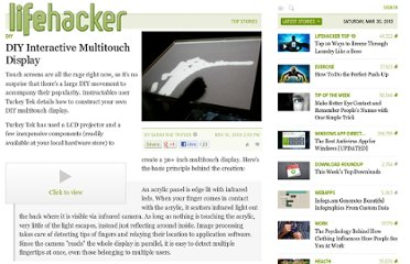 http://lifehacker.com/5401582/diy-interactive-multitouch-display