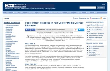 http://www.ncte.org/positions/statements/fairusemedialiteracy