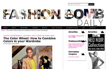 http://fashionbombdaily.com/2010/04/16/the-color-wheel-how-to-combine-colors-wardrobe-accessories/