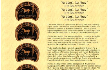 http://www.horseshoes.com/farrierssites/sites/rustyfreeman/homepage.htm