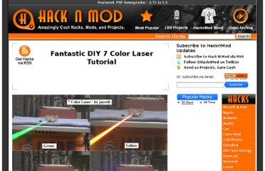 http://hacknmod.com/hack/fantastic-diy-7-color-laser-tutorial/