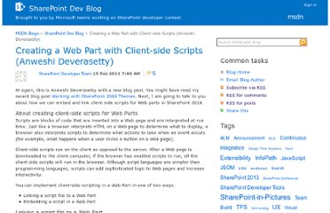 http://blogs.msdn.com/b/sharepointdev/archive/2011/02/15/creating-a-web-part-with-client-side-script.aspx