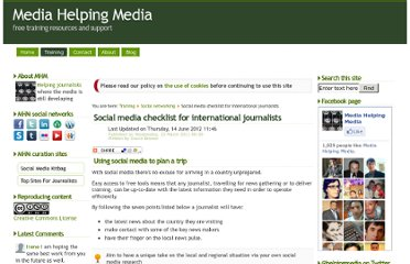 http://www.mediahelpingmedia.org/training-resources/social-networking/617-social-media-checklist-for-international-journalists-