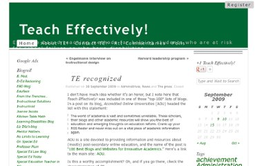 http://teacheffectively.com/2009/09/10/te-recognized/