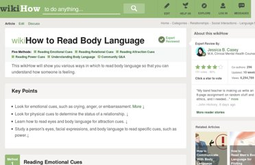 http://www.wikihow.com/Read-Body-Language